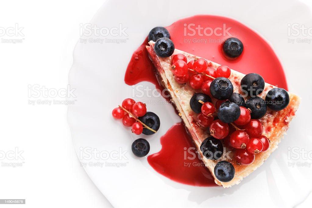 Сheese cake New-York with berries stock photo