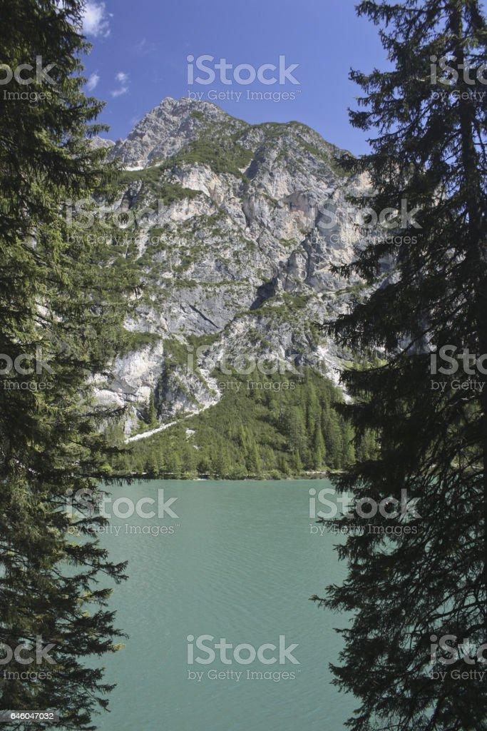 105_Braies Lake stock photo