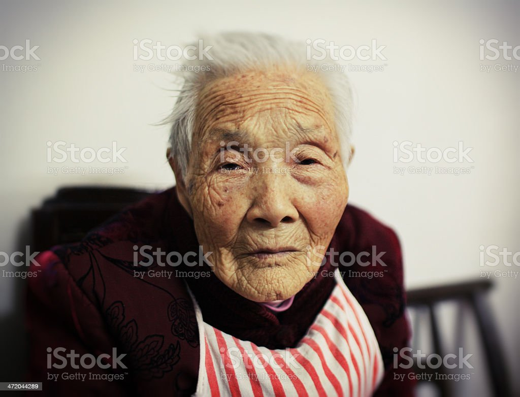 105-Year-Old Woman stock photo