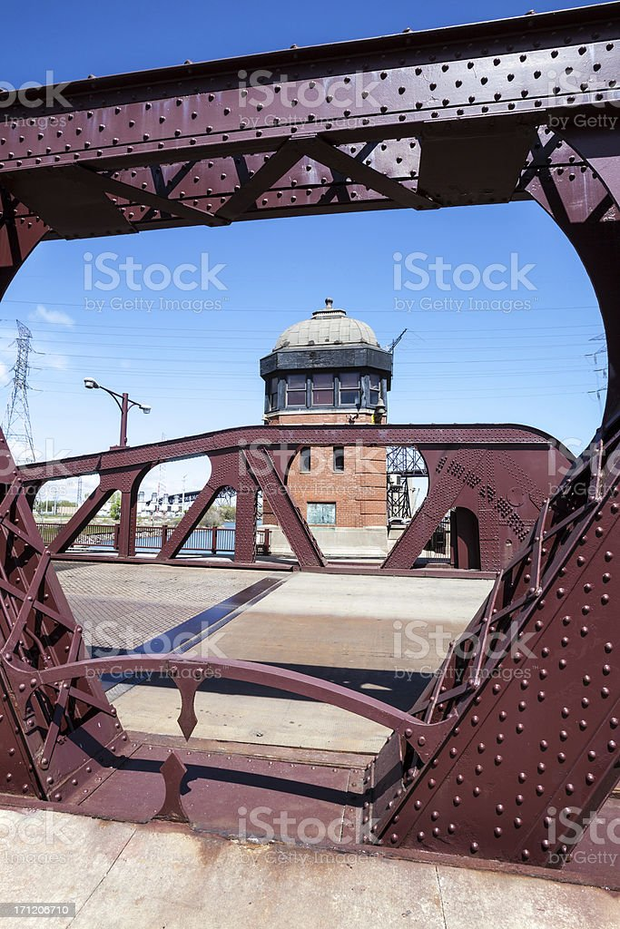 106th Street Bridge over the Calumet River, Chicago stock photo