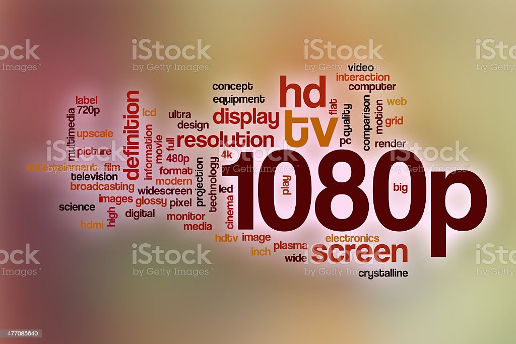 1080p word cloud with abstract background stock photo