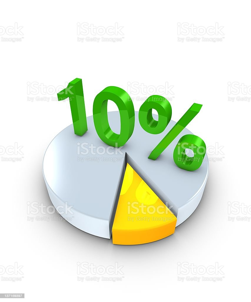 10percent royalty-free stock photo