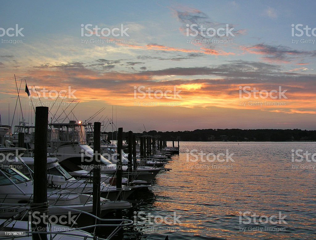 10pm Sunset stock photo