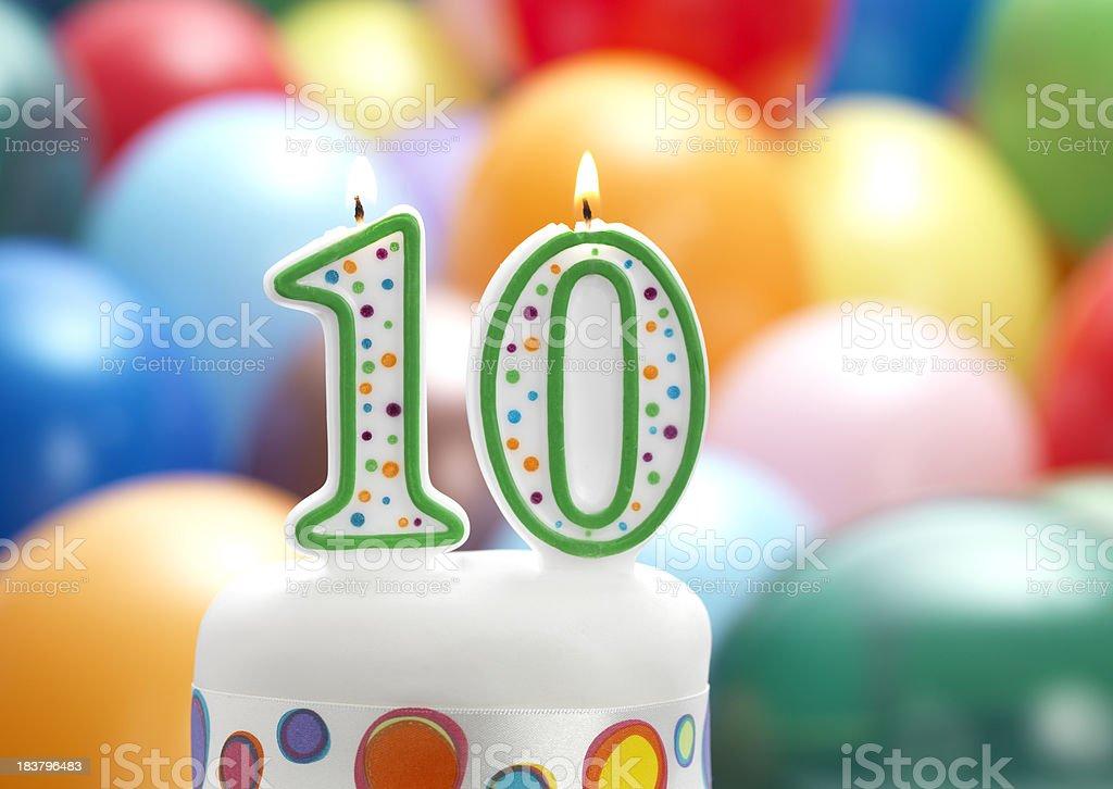 10th birthday party stock photo