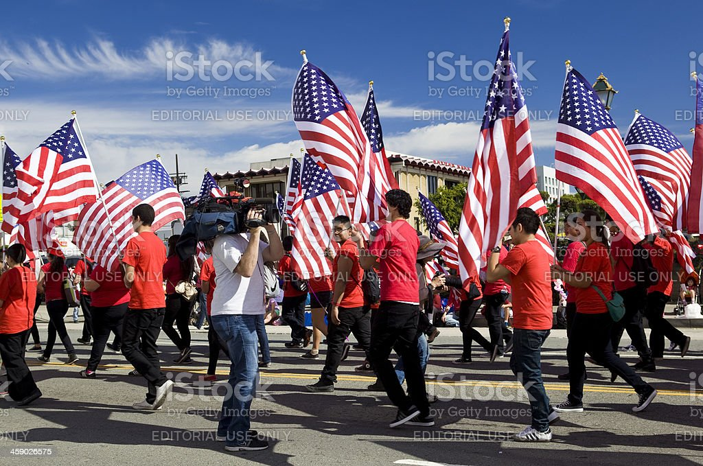 114th Annual Golden Dragon Parade in Los Angeles royalty-free stock photo
