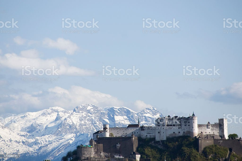 11th Century Fortress in Europe stock photo