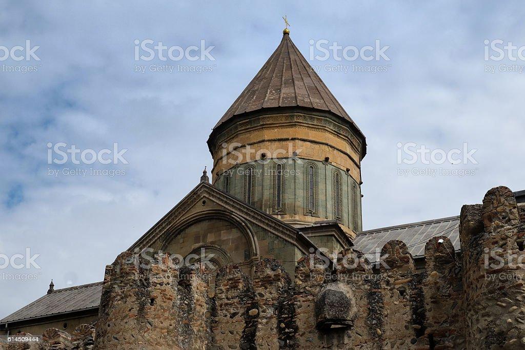 11th century Svetitskhoveli Cathedral in Mtskheta, Georgia stock photo