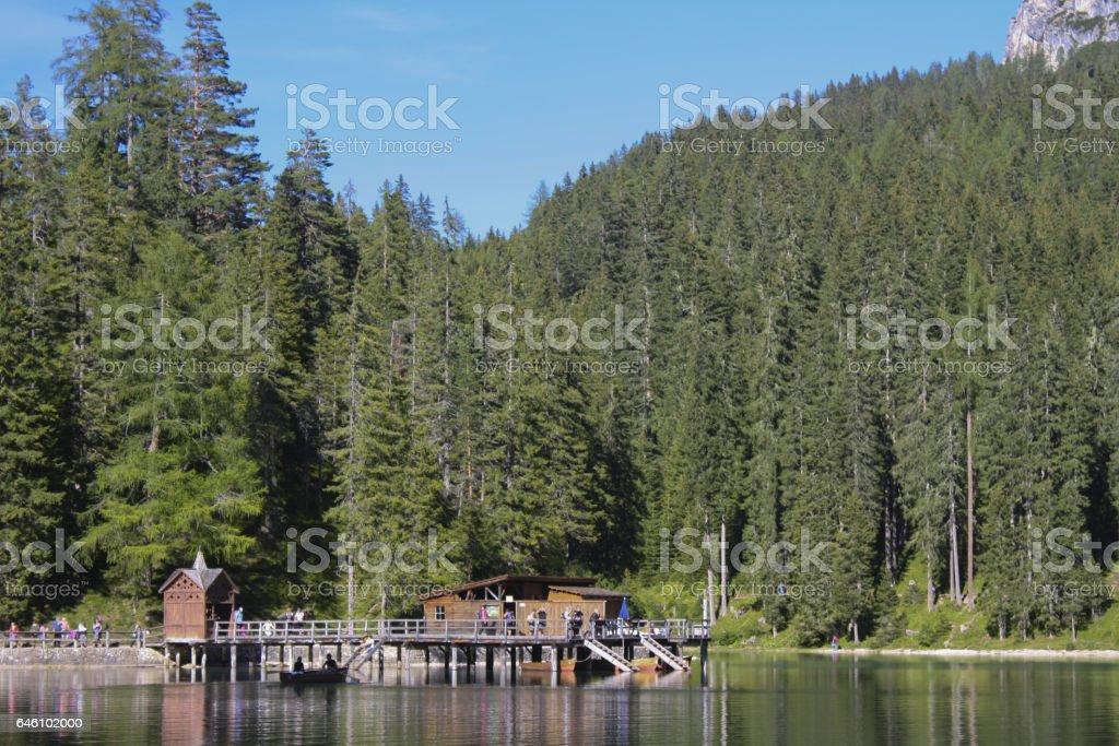 125_Braies Lake stock photo