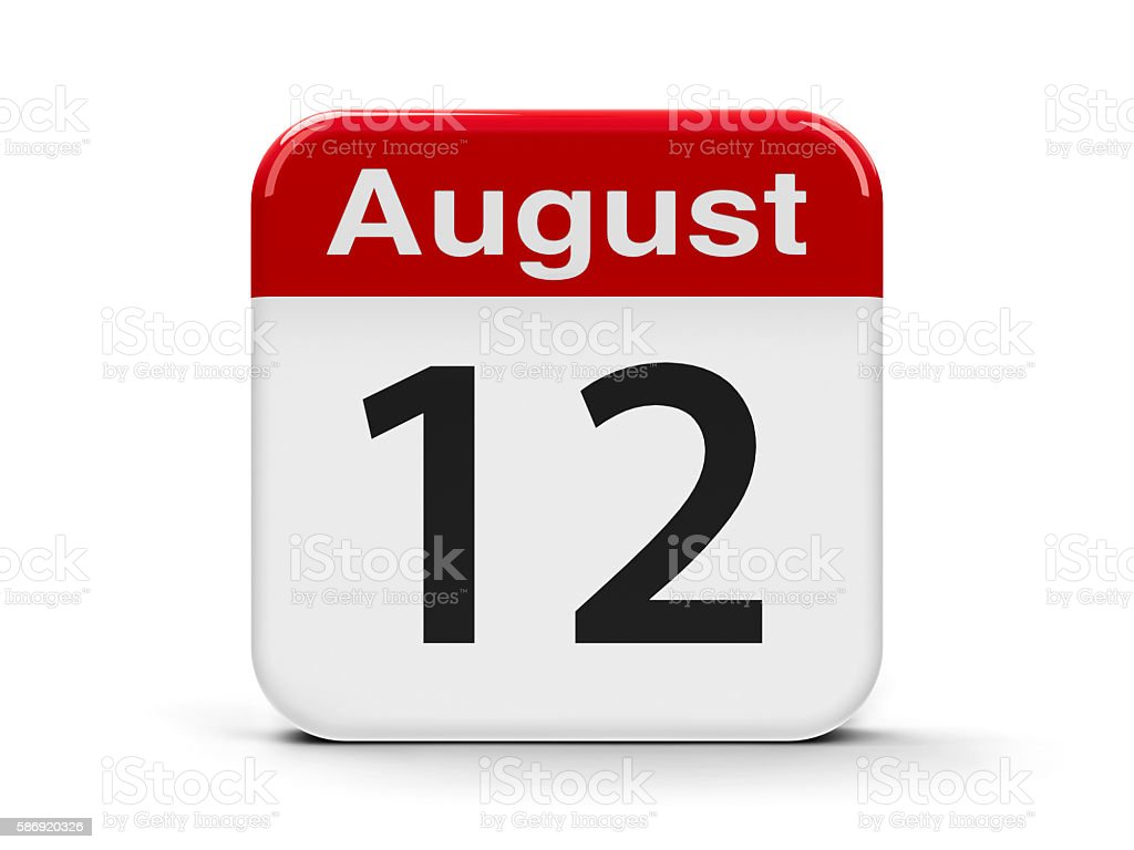 12th August stock photo