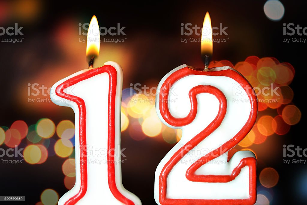 12th birthday stock photo