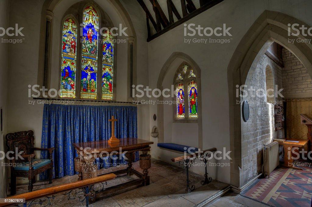 12th century church altar stock photo