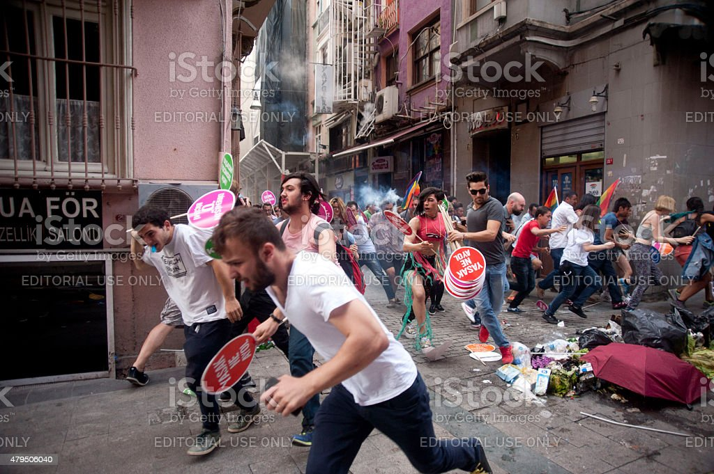 13th Gay Pride Parade in Istanbul stock photo