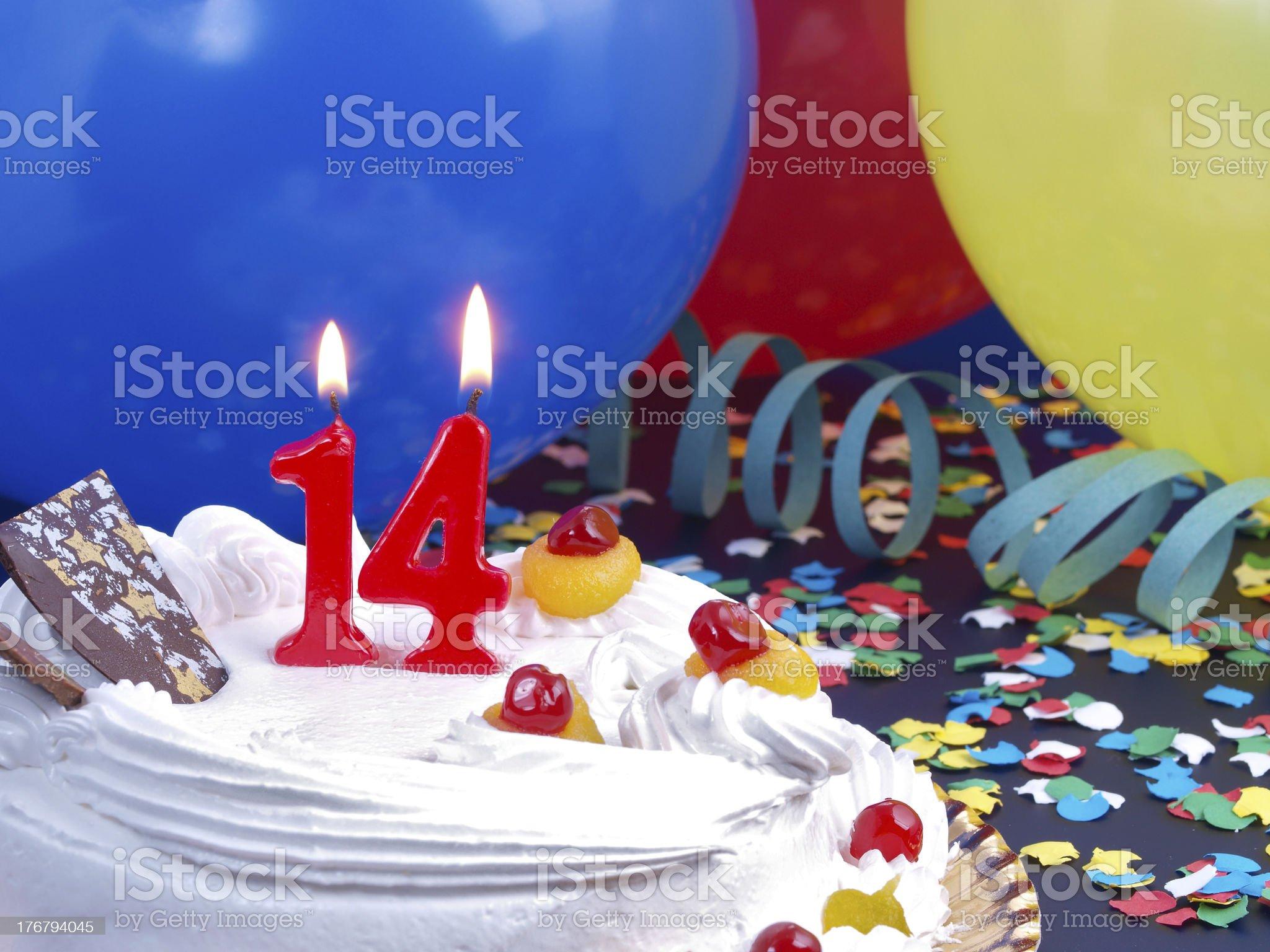 14th. Anniversary royalty-free stock photo