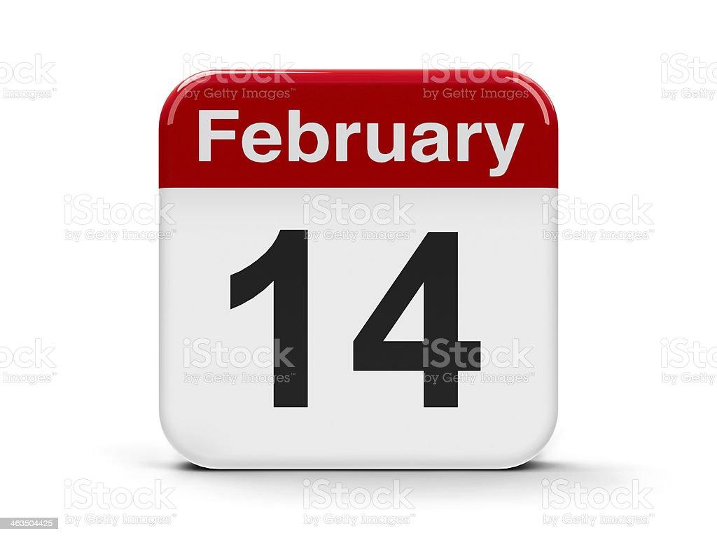 14th February stock photo