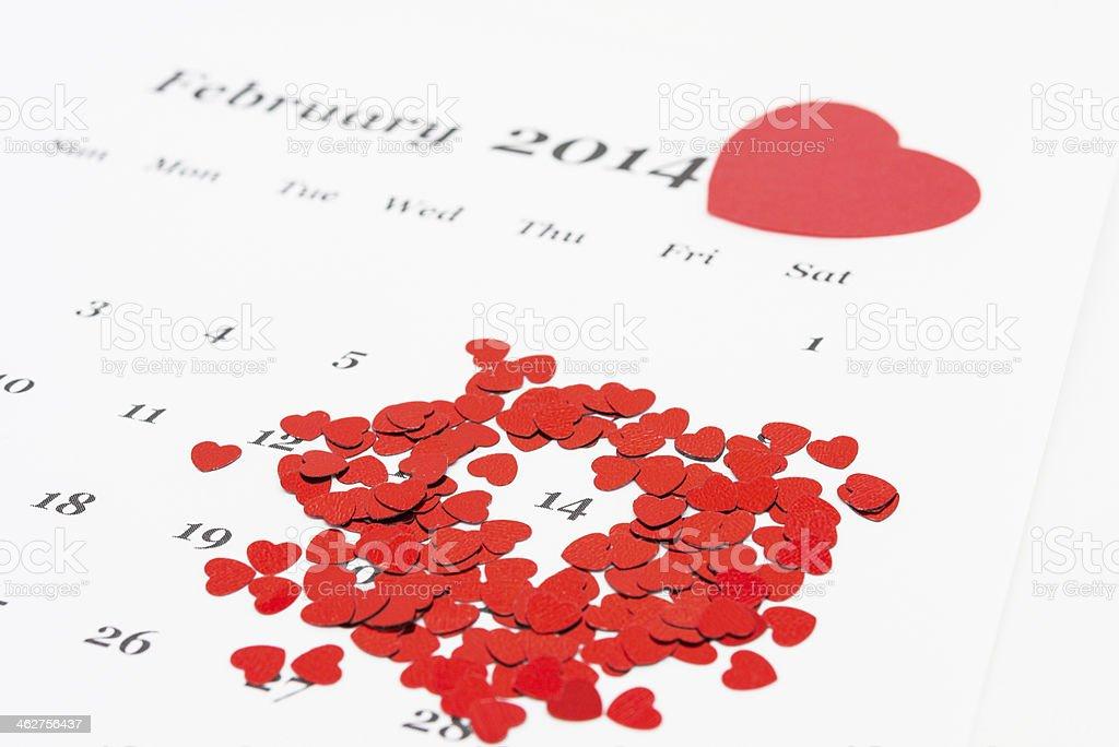 14 º de fevereiro de foto royalty-free