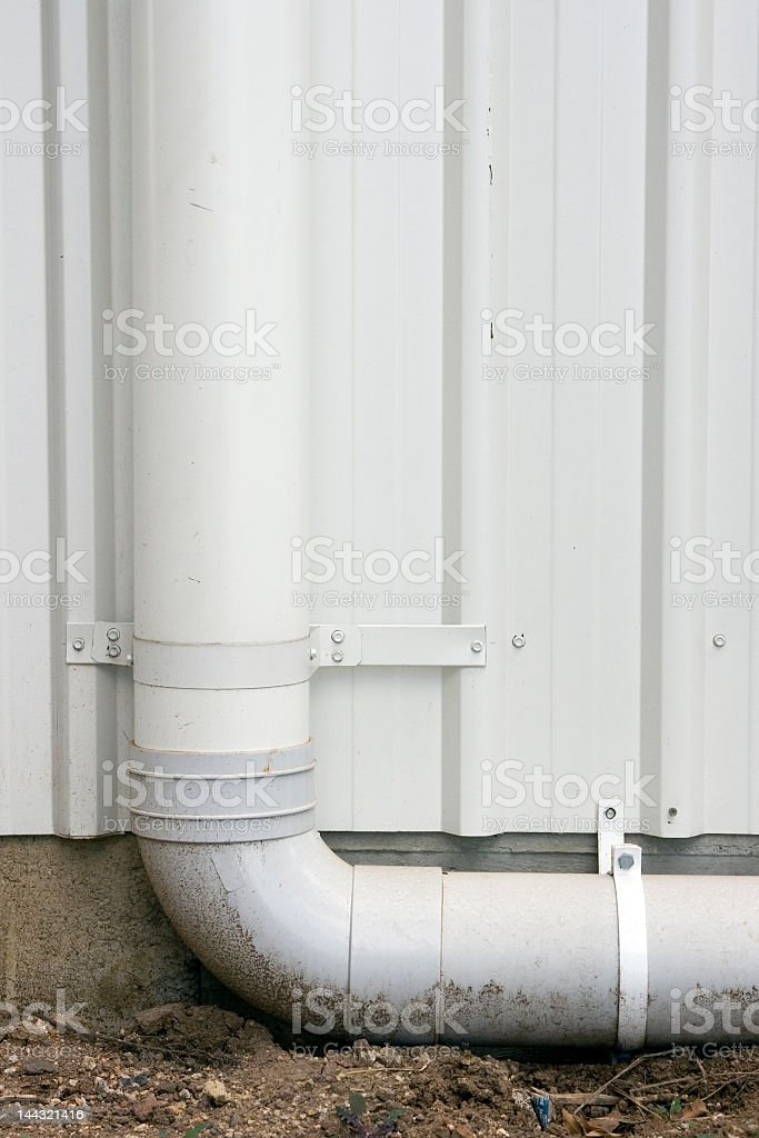 150mm PVC Stormwater Downpipe 90 degrees royalty-free stock photo