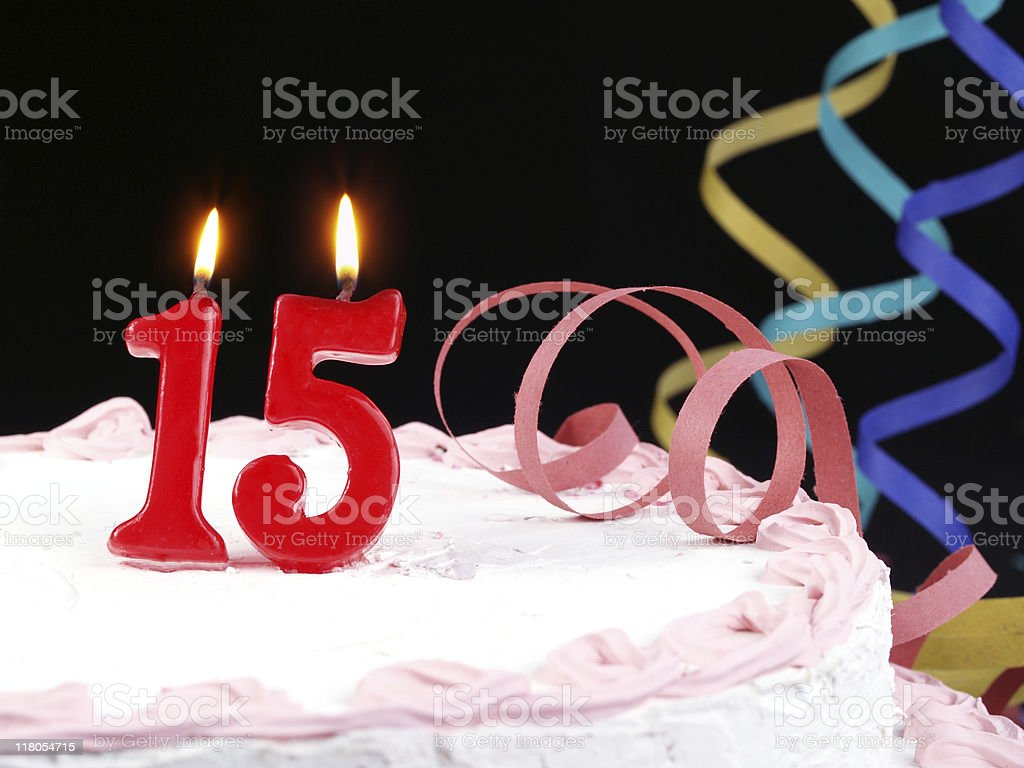 15th. Anniversary stock photo
