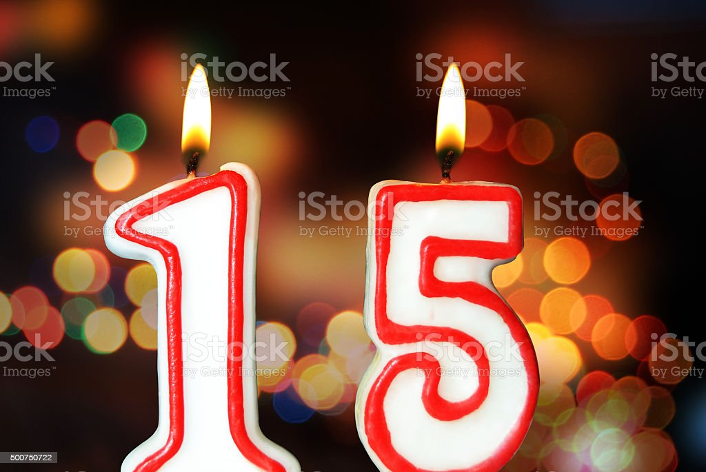 15th anniversary stock photo
