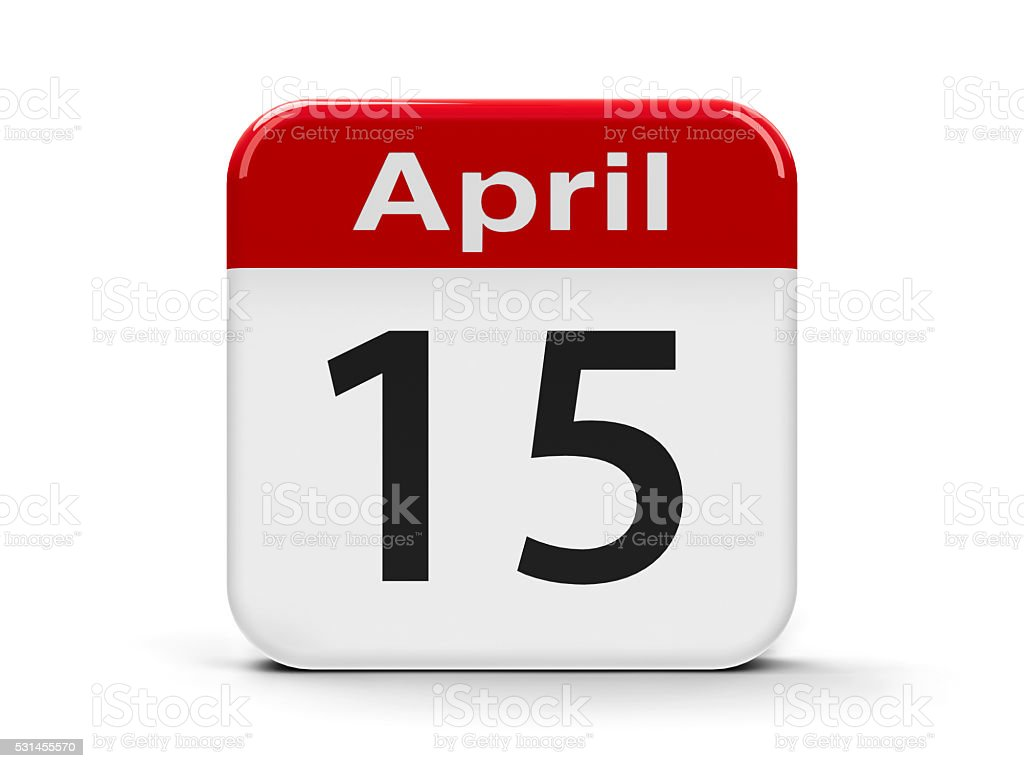 15th April stock photo