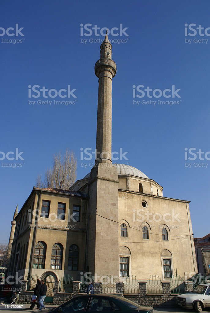 15th Century Fatih Mosque in Prishtina, Kosovo royalty-free stock photo