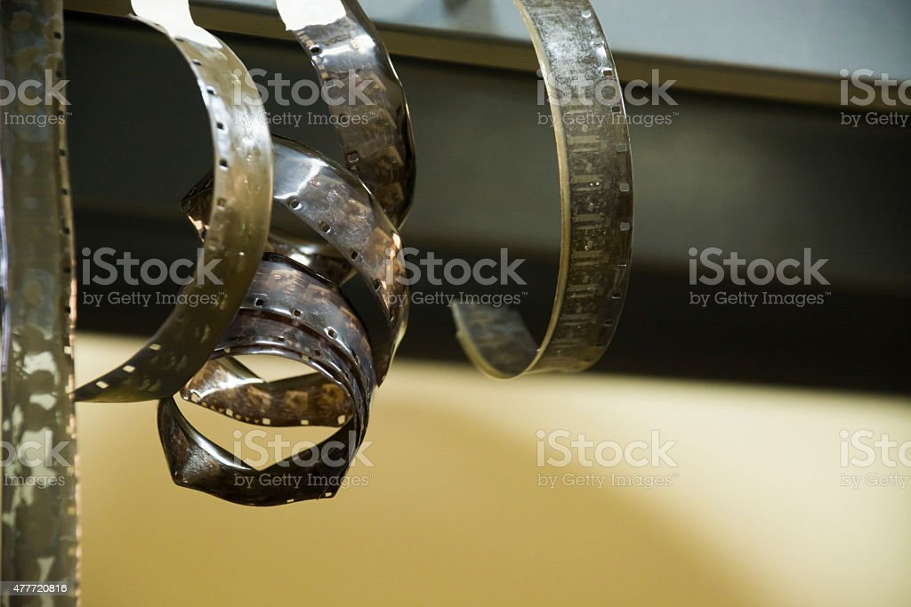 16mm film in very bad condition stock photo