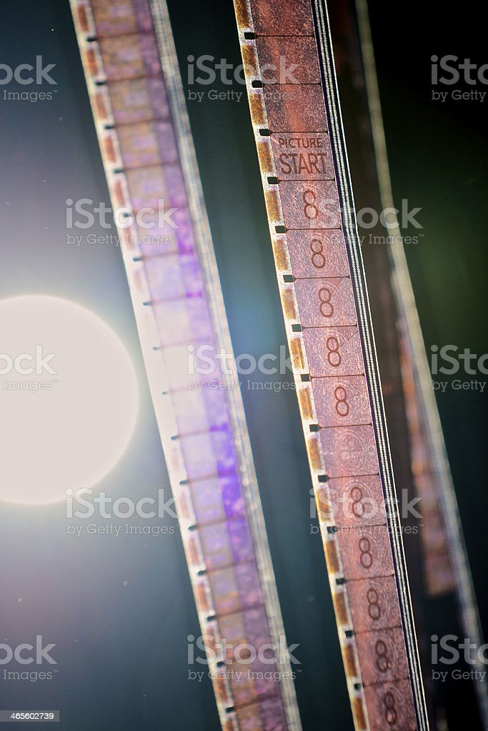 16mm Film Leader stock photo