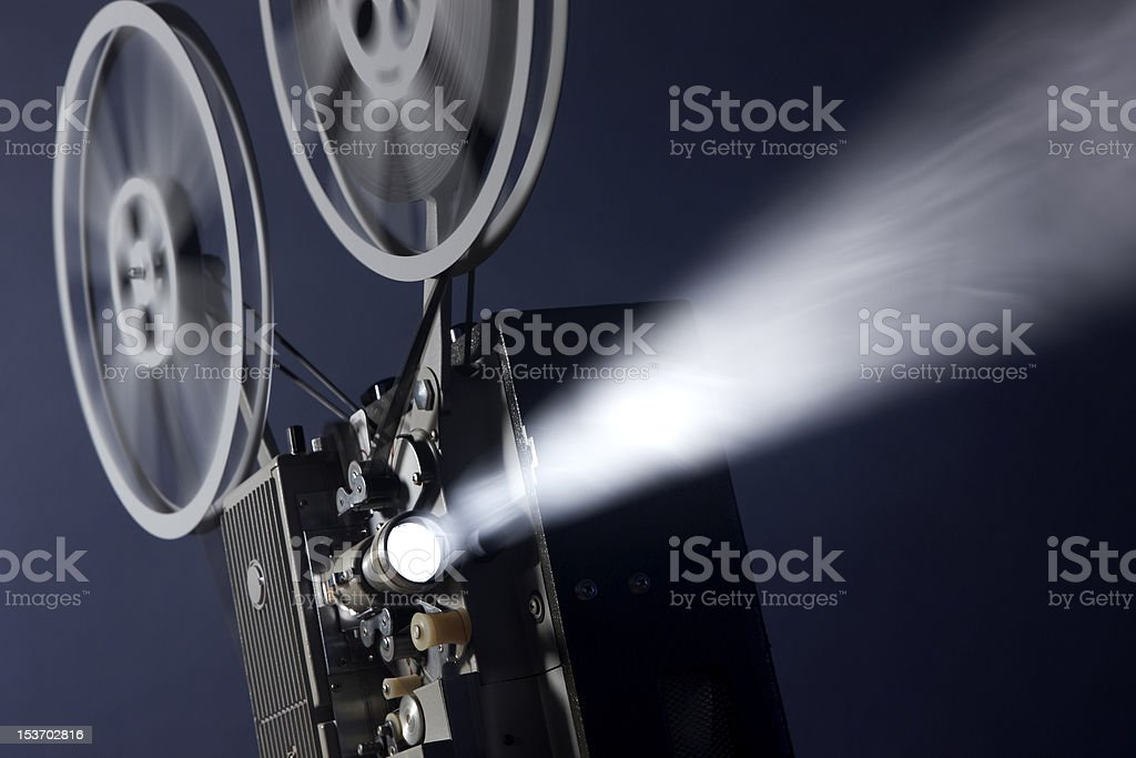 16mm movie projector stock photo