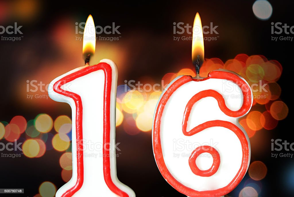 16th birthday stock photo