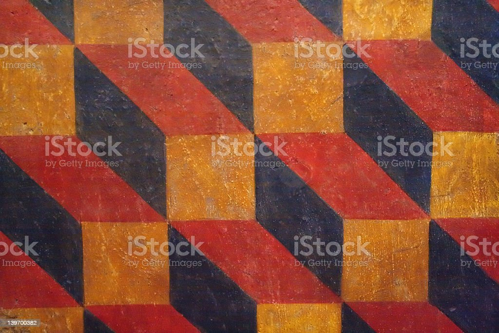 16th Century  painted wall pattern stock photo