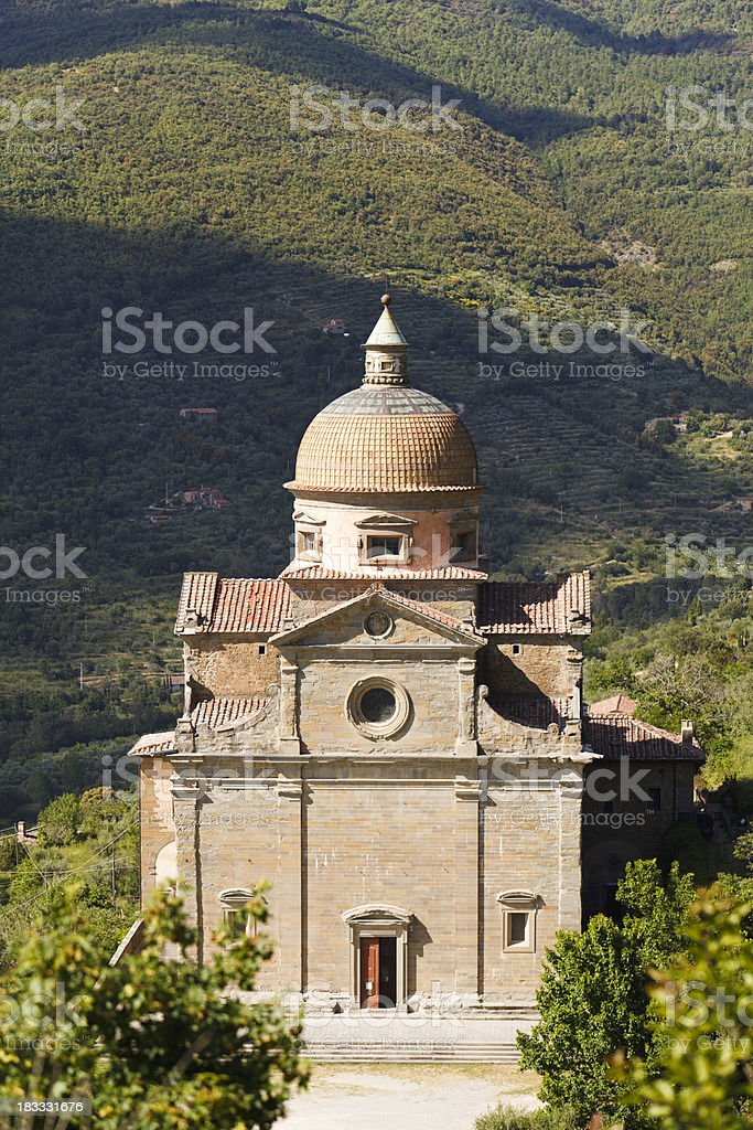 16th Century Tuscany Church, near Montepulciano stock photo