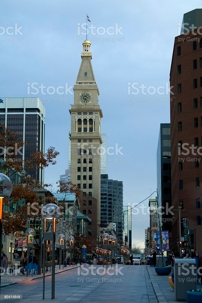 16th Street Mall in Denver LoDo royalty-free stock photo