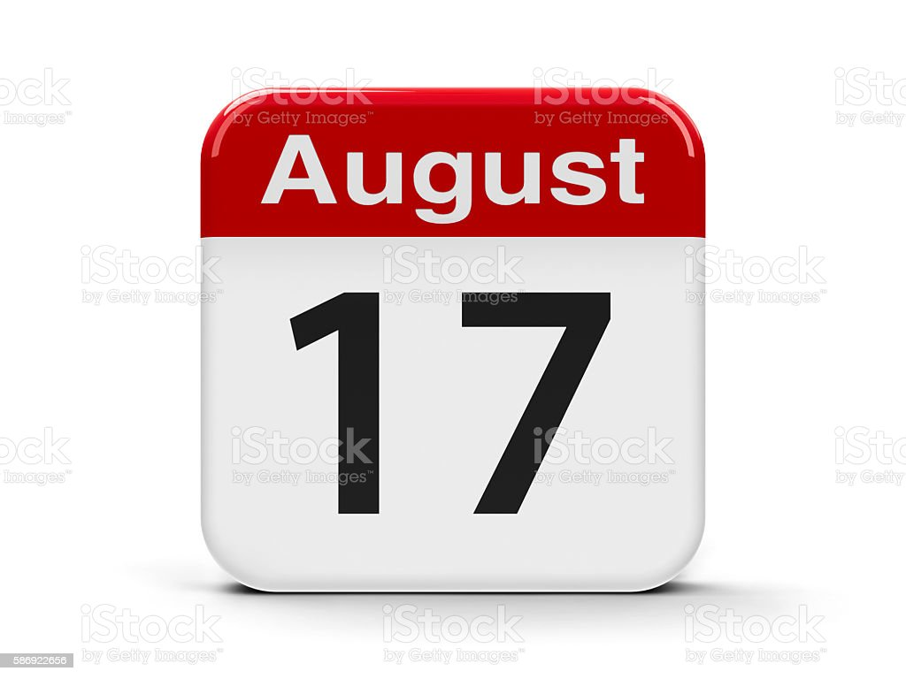 17th August stock photo