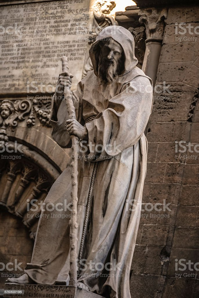 17th. C Statue at Palermo Cathedral stock photo