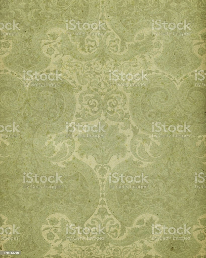 17th Century floral paper design royalty-free stock photo
