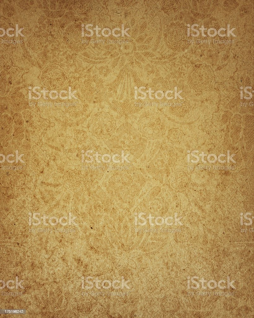 17th Century floral paper design stock photo