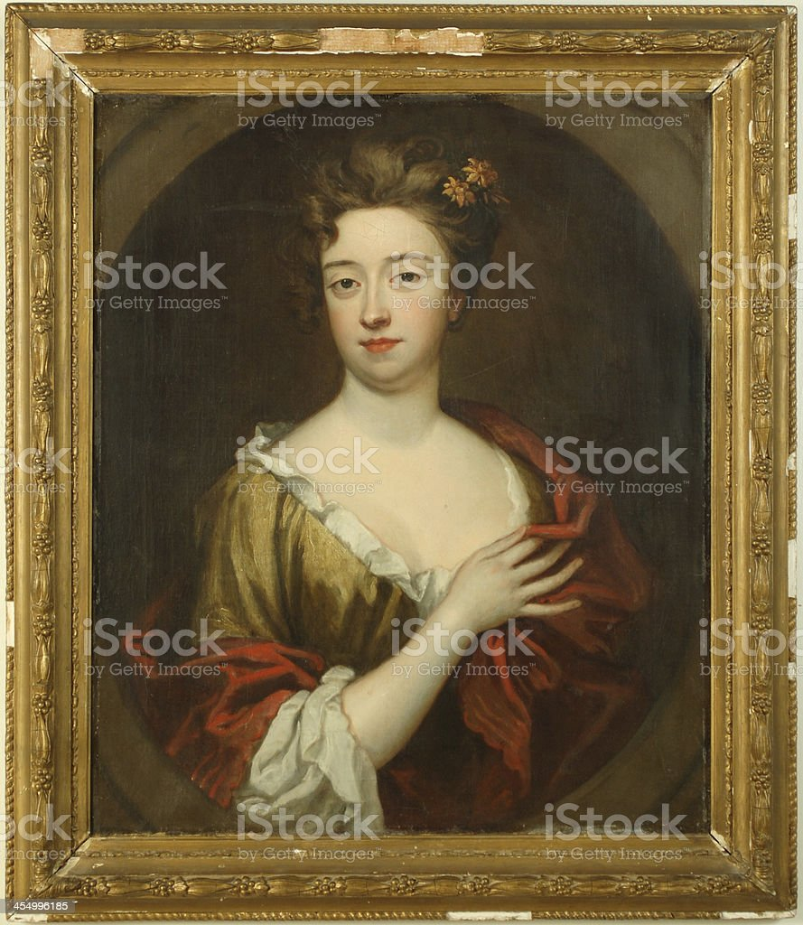17th Century Portrait, Oil on Canvas stock photo