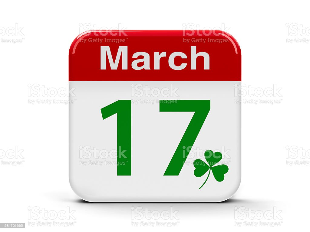 17th March - Patricks day stock photo