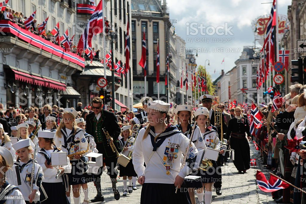 17th of May Norwegian National day parade Oslo, Norway stock photo