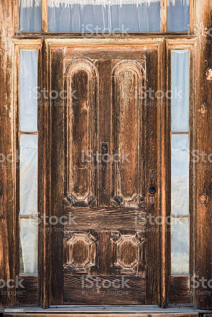 1800s Western Ghost Town Door stock photo