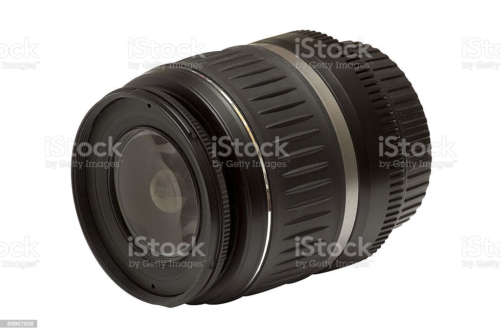 18-55mm Zoom Lens w/ Path royalty-free stock photo