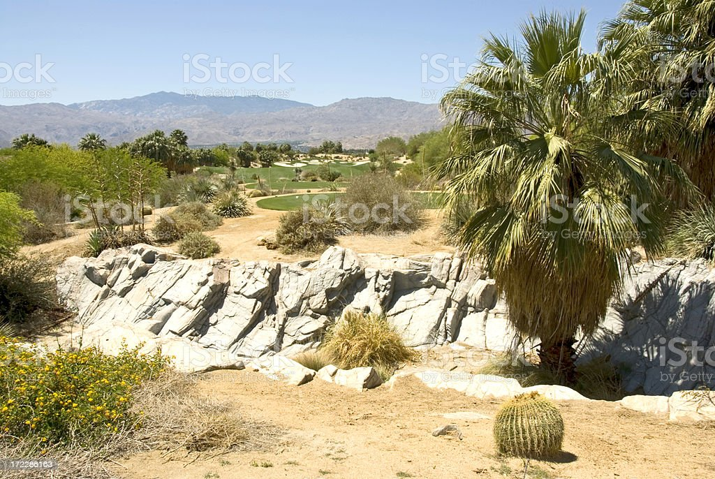 18th at Desert Willow - Palm Springs California royalty-free stock photo
