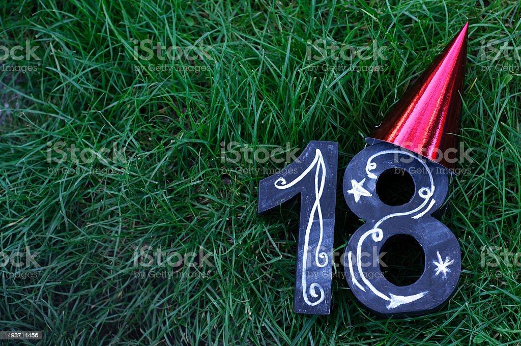 18th Birthday Concept stock photo