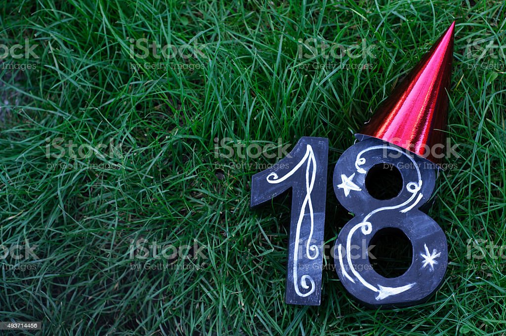 18th Birthday Concept stock photo