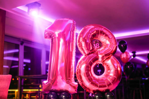 18th birthday balloon pictures images and stock photos istock