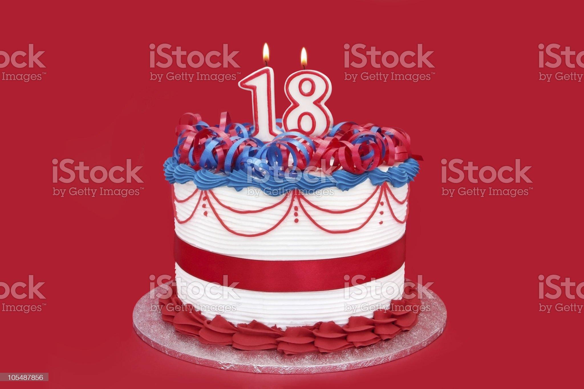 18th Cake royalty-free stock photo