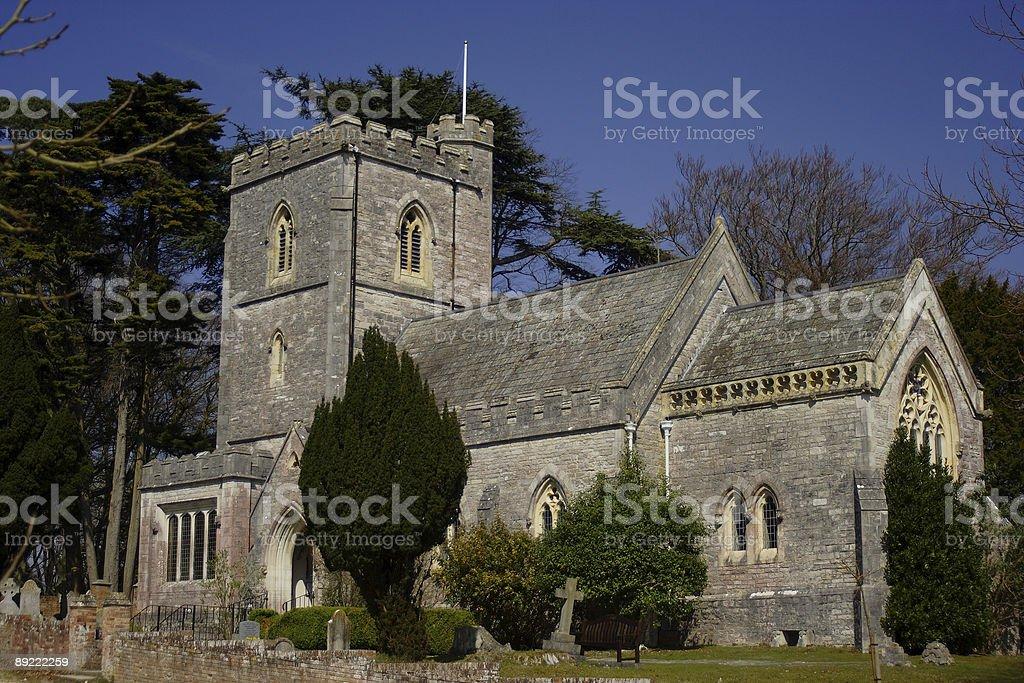 18th Century Church at Brownsea Island. stock photo