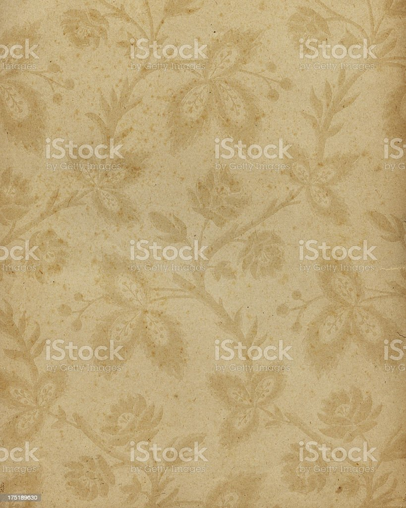 18th Century floral paper design stock photo