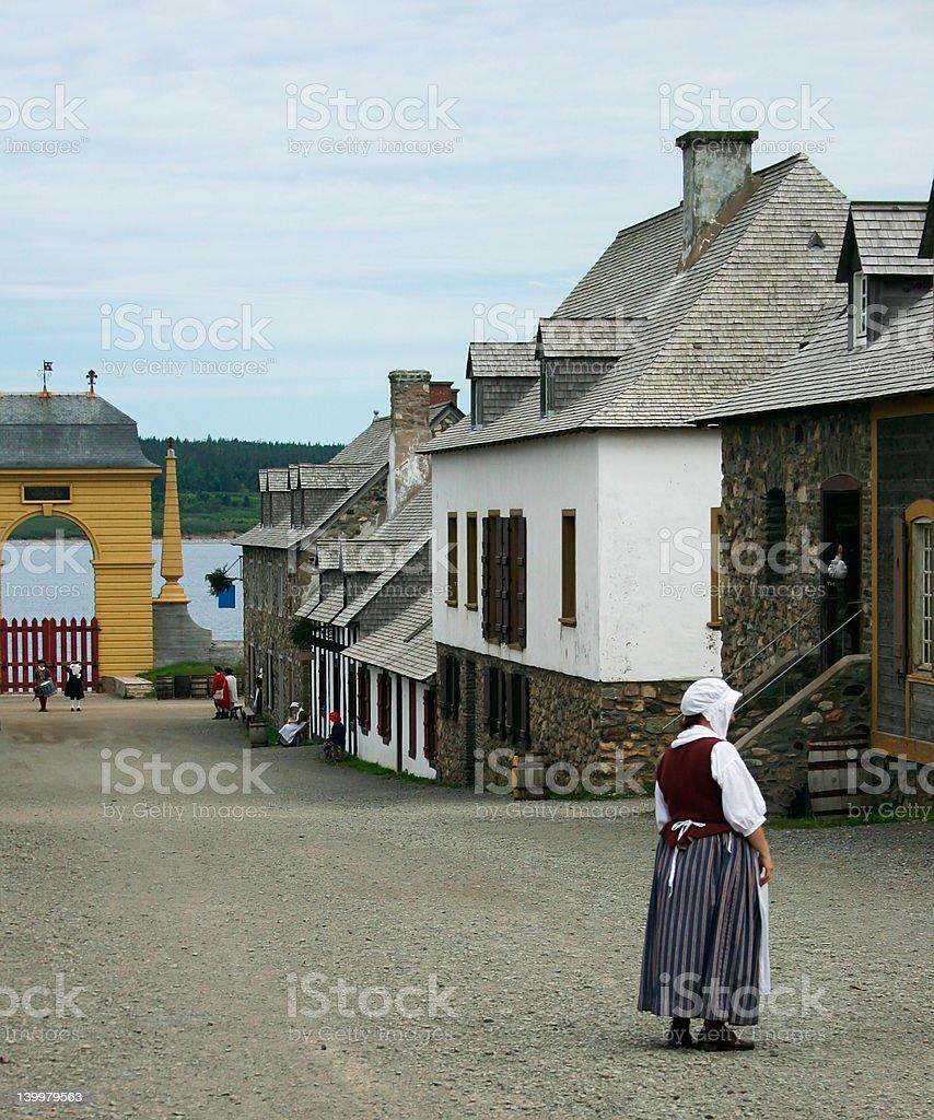 18th Century French Colony stock photo