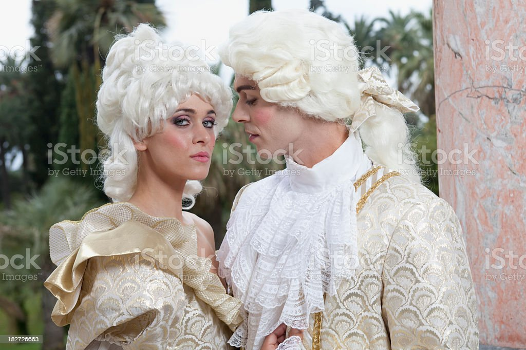 18th Century French Couple Marie Antoinette Style royalty-free stock photo