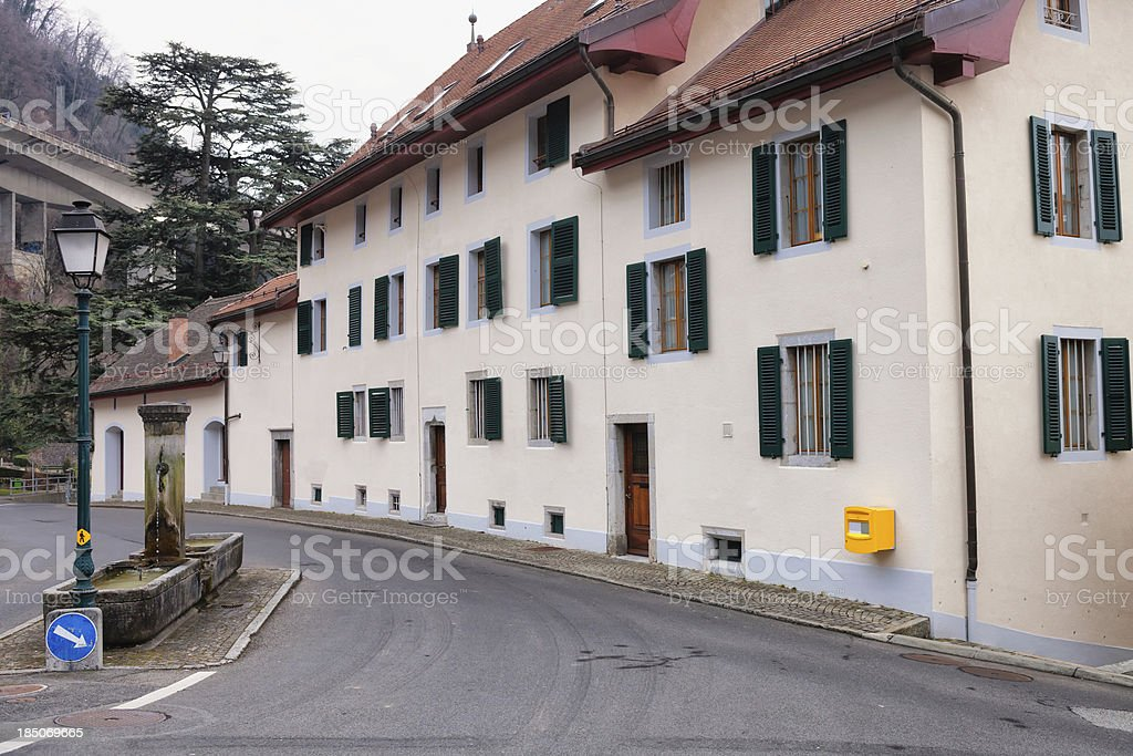 18th Century Houses Renovated into Four Apartments stock photo
